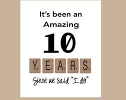 tenth wedding anniversary popular items for 10th wedding on etsy anniversary