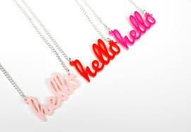 acrylic name necklace hello name necklace laser cut acrylic acrylic jewellery