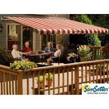 Motorized Awnings Reviews 15 U0027 Motorized Xl Retractable Awning With Woven Acrylic Fabric