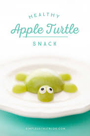 healthy apple turtle snack for kids