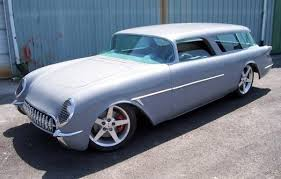 corvette station wagon kits nomad wagon with early 50 s corvette nose roofed rods