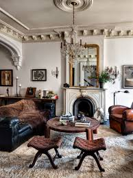 vintage leather vkvvisuals com blog tracy martin s wife of depeche mode s singer vince clark ny brooklyn brownstone house livingroom via habitually chic