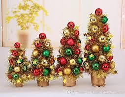 wholesale christmas decorations 2018 new mini christmas tree pendulum colorful balls tree christmas