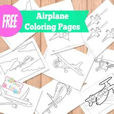 airplane coloring pages itsy bitsy fun