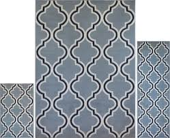 Modern Contemporary Rug 3 Pc Set Modern Contemporary Geometric Area Rug Runner Accent Mat