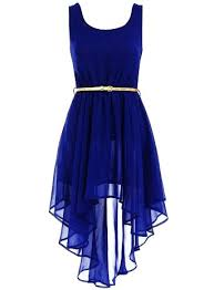 dress blue asymmetric royal blue dress belted dress for s
