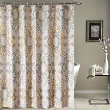 bathroom dazzling stall shower curtain with grey walls and flower