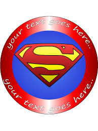 superman cake toppers personalised edible icing cake topper decoration disc 7 5