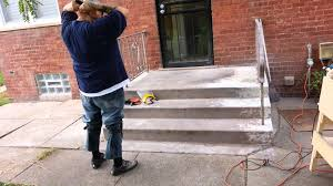 Painted Concrete Porch Pictures by Taking Paint Off Concrete Steps Youtube