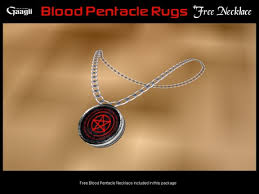 Pentacle Rug Second Life Marketplace Gaagii Blood Pentacle Rugs Free Necklace