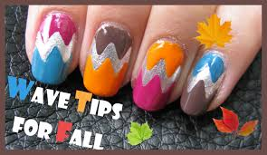 wave tips for fall nails easy colorful last minute autumn manicure