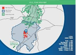 Austin Area Map by Primary Trade Area Kyle Texas Economic Development