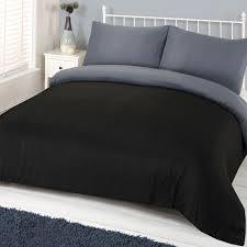 Single Bed Duvet Brentfords Plain Duvet Cover U0026 Pillowcase Reversible Bedding Set