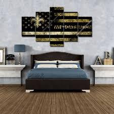 American Flag Bed Set New Orleans Saints Vintage American Flag Football Home Decor Wall
