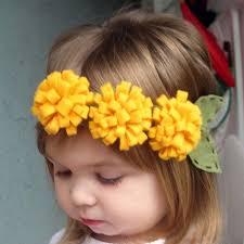 felt flower headband pom pom felt flower headband