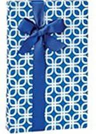 royal blue wrapping paper geo graphic tiles blue gift wrapping roll 24 x 16