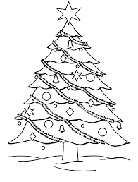 decorate christmas tree coloring coloring