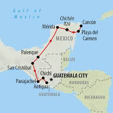 Map Of Yucatan Mexico by Mexico Tours Holidays To Mexico On The Go Tours
