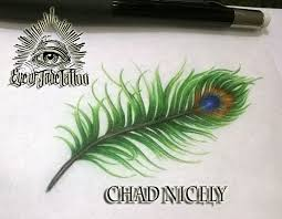 peacock feather tattoo design by chad nicely by eyeofjadetattoos