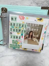 bridal shower photo album paper tales