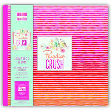 scrapbook album 12x12 trimcraft edition scrapbook album 12x12 paradise crush