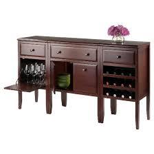 orleans modular buffet with drawer 12 bottle wine rack wood dark
