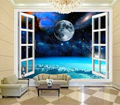 charming galaxy wallpaper personalized custom 3d wall murals moon