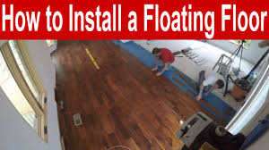 how to install an engineered hardwood floating floor with