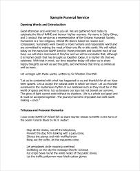 template for funeral service sle funeral service 12 documents in pdf psd word
