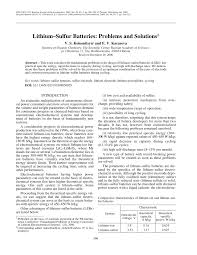 lithium sulfur batteries problems and solutions pdf download