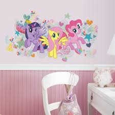 3 wall decals to create a magical my little pony bedroom my little pony giant wall graphic