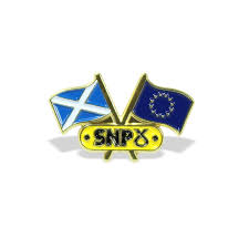 Pin Flags Snp Scotland U0026 Eu Flags Pin Badge
