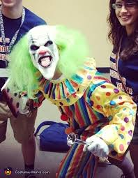 Halloween Clown Costumes Scary Bobo Evil Clown Scary Halloween Costume Photo 2 3
