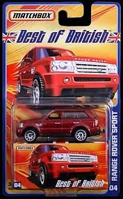 matchbox range rover amazon com range rover sport matchbox best of british series red