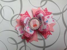 peppa pig ribbon peppa pig ribbon hair clip hair bow ribbon hair and ribbon hair