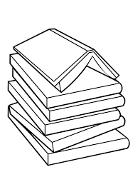 Pile Of Book Coloring Page Pile Of Book Coloring Page Coloring Sun Books Coloring Page