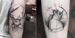 tattoo geometric outline superb tattoos with geometric lines fubiz media