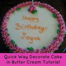 Angel Decorated Cake Quick Way To Decorate A Cake In Butter Cream Angel Foods