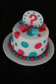 baby gender reveal cake party cakes pinterest baby gender