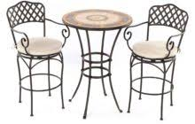 Iron Bistro Table Black Polished Wrought Iron Outdoor Bistro Table With Square Cream