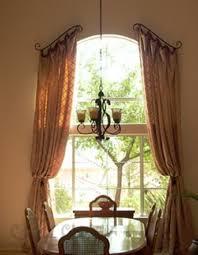 curved curtain rod for arch window eyelet curtain curtain ideas