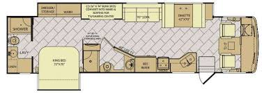 Rv Floor Plans Class A Storm Motor Home Class A Rv Sales 4 Floorplans