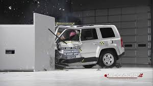 small black jeep crash test small overlap iihs jeep patriot youtube