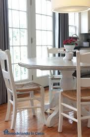 Remodelando La Casa Kitchen Table And Chairs Makeover - Painted kitchen tables and chairs