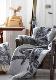 deer blanket by emelie ek design for klippan yllefabrik dusty