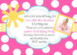 1st birthday party invitation wording invitations templates