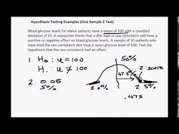 z table two tailed two tailed z test youtube