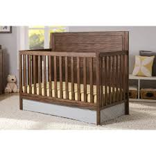 Convertible Crib Full Size Bed by Delta Children Cambridge 4 In 1 Convertible Crib Oak Walmart Com