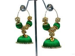 threaded earrings silk threaded designer earring at rs 199 pair s ram murti