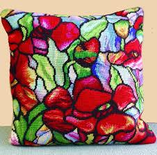 trammed tapestry needlepoint kit cushion ii cushions